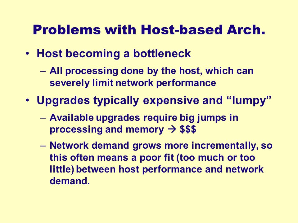 Problems with Host-based Arch.