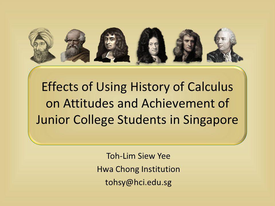 Toh-Lim Siew Yee Hwa Chong Institution tohsy@hci.edu.sg