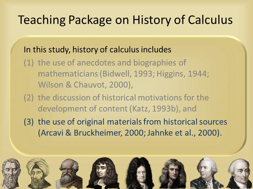 Teaching Package on History of Calculus