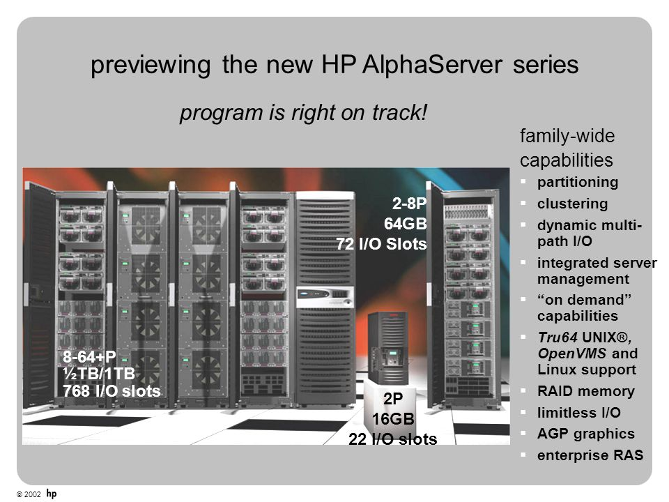 previewing the new HP AlphaServer series