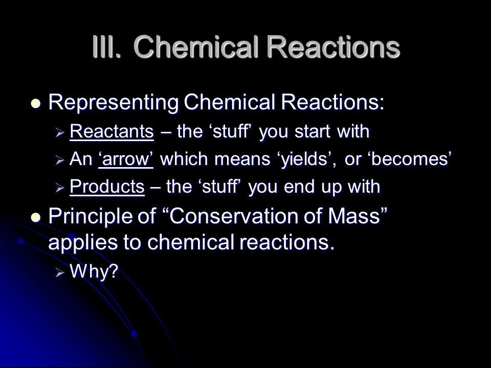 III. Chemical Reactions