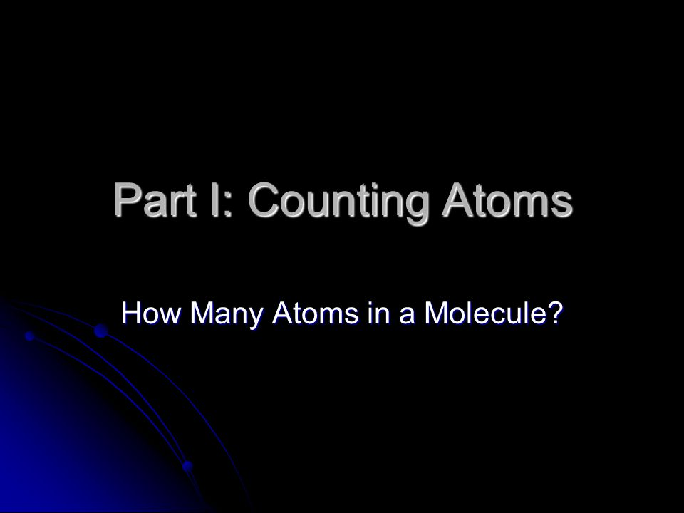 How Many Atoms in a Molecule