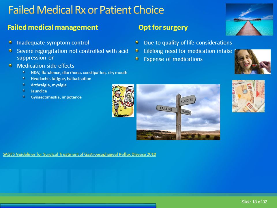 Failed Medical Rx or Patient Choice