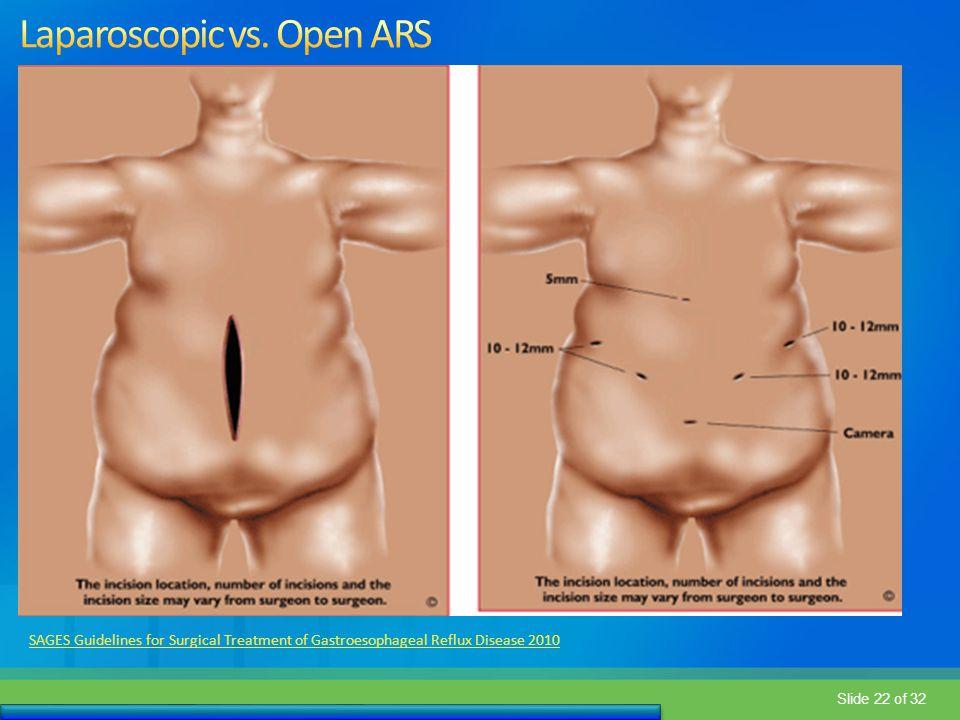 Laparoscopic vs. Open ARS