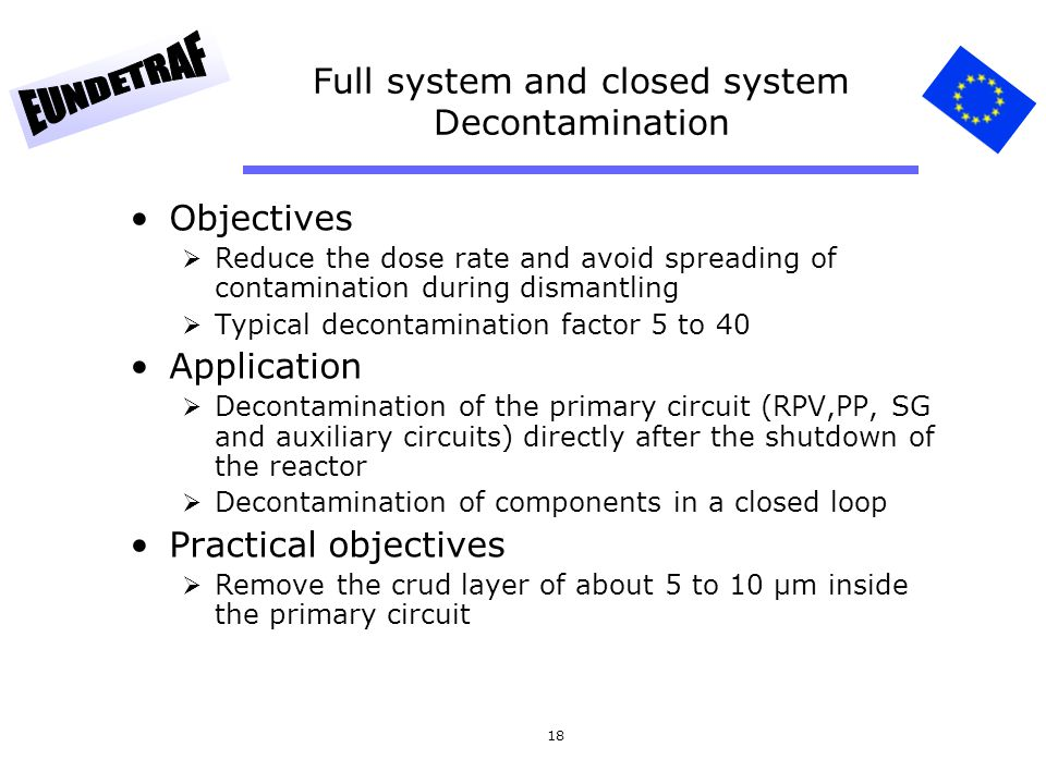 Full system and closed system Decontamination
