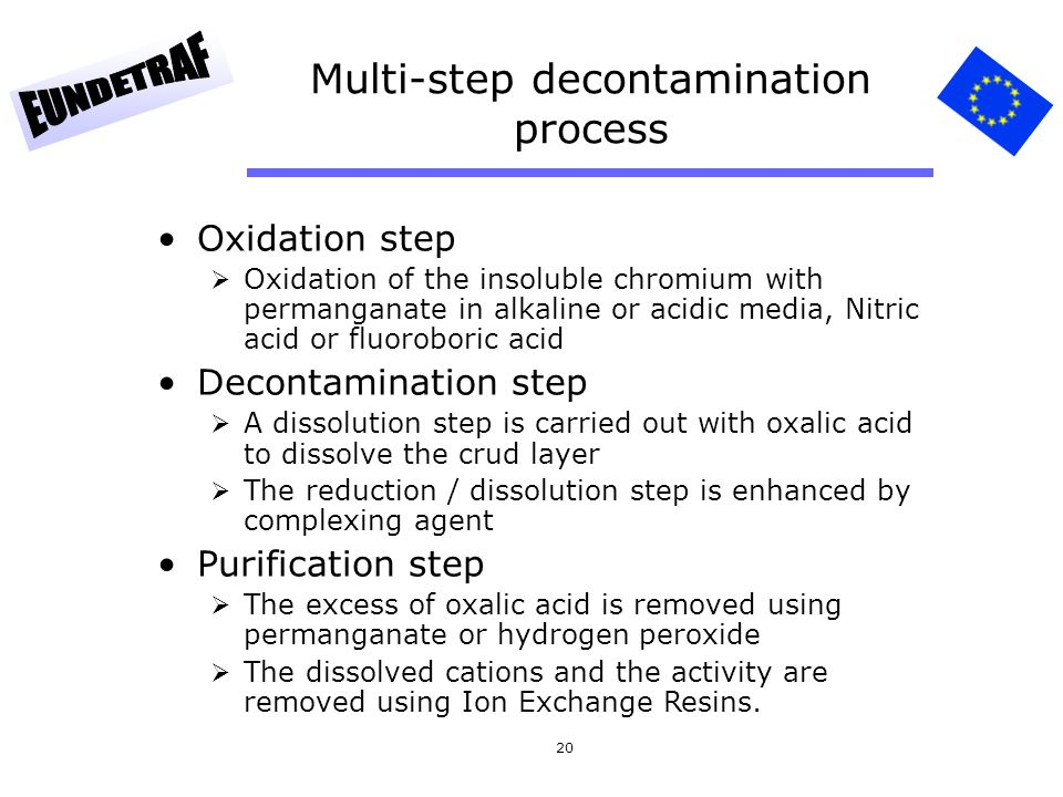 Multi-step decontamination process