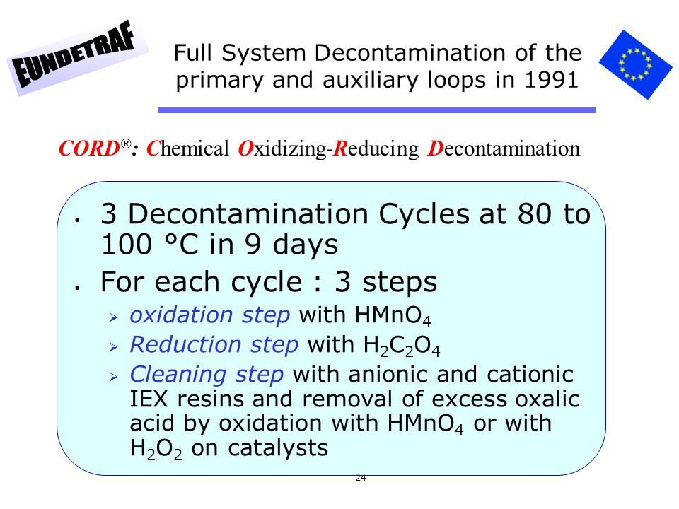 Full System Decontamination of the primary and auxiliary loops in 1991