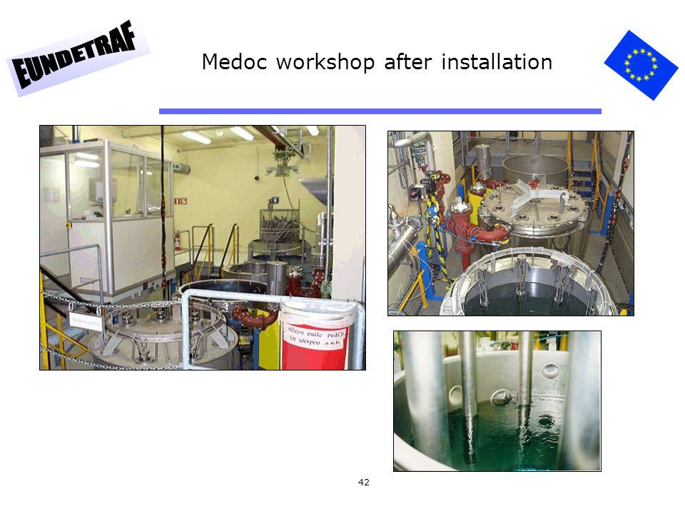 Medoc workshop after installation
