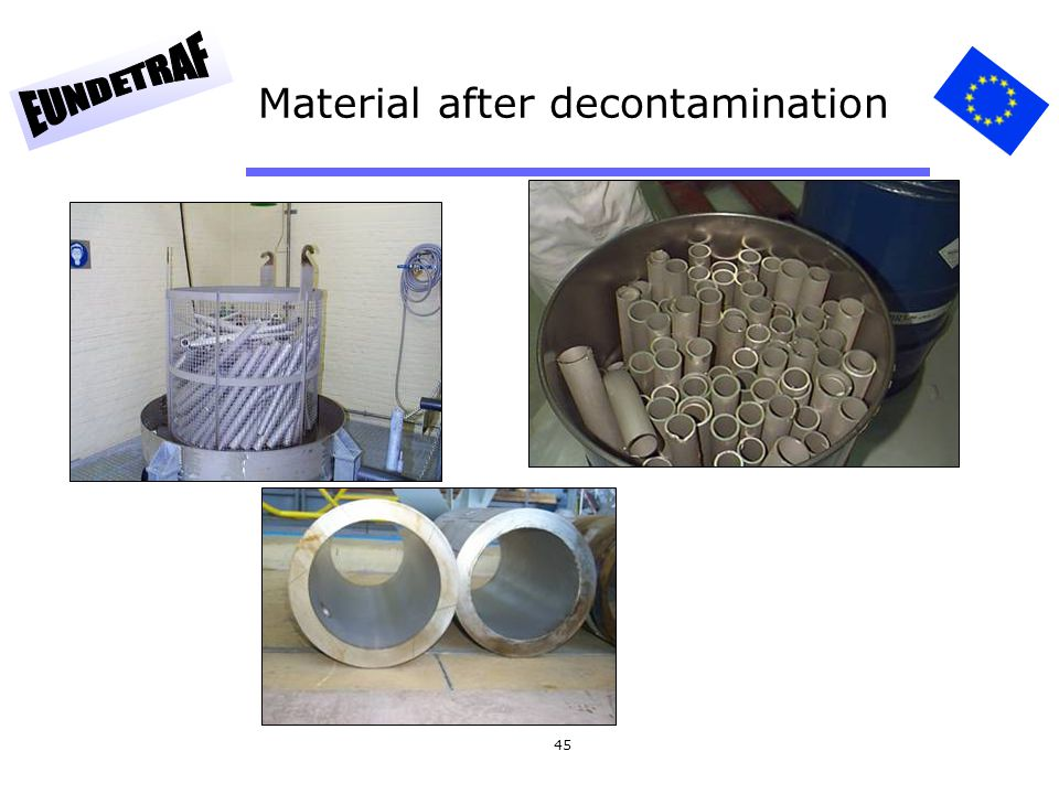 Material after decontamination