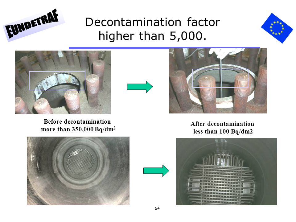 Decontamination factor higher than 5,000.
