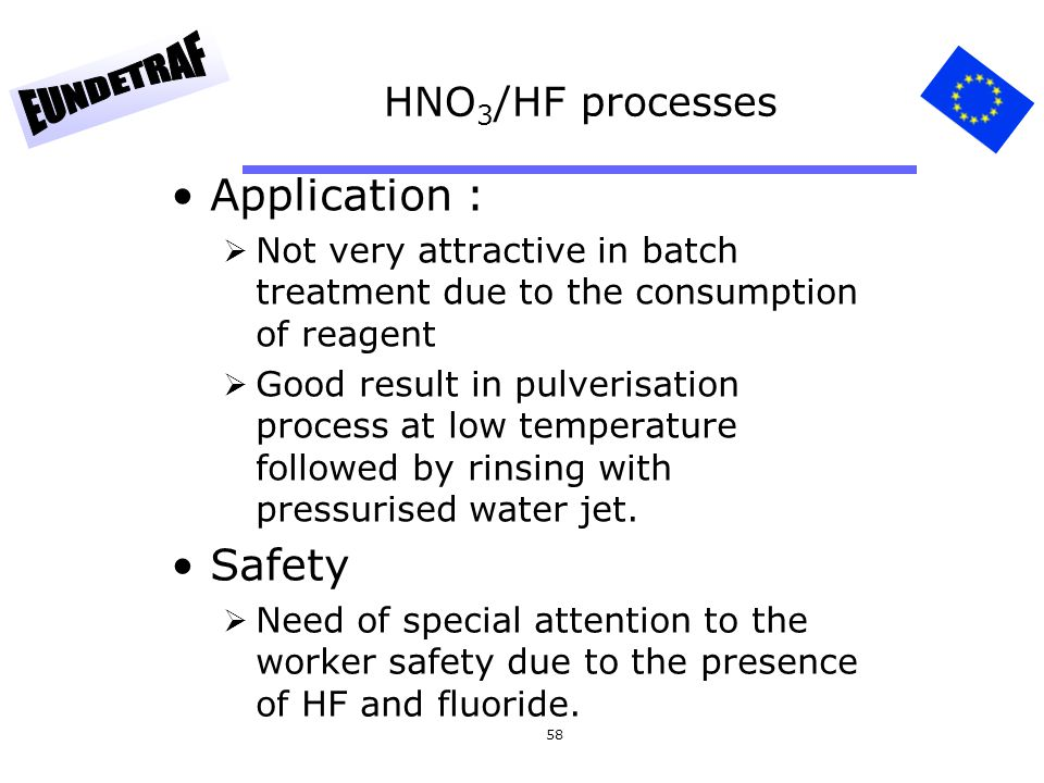 Application : Safety HNO3/HF processes