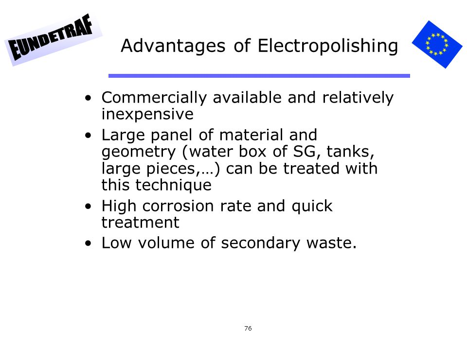 Advantages of Electropolishing