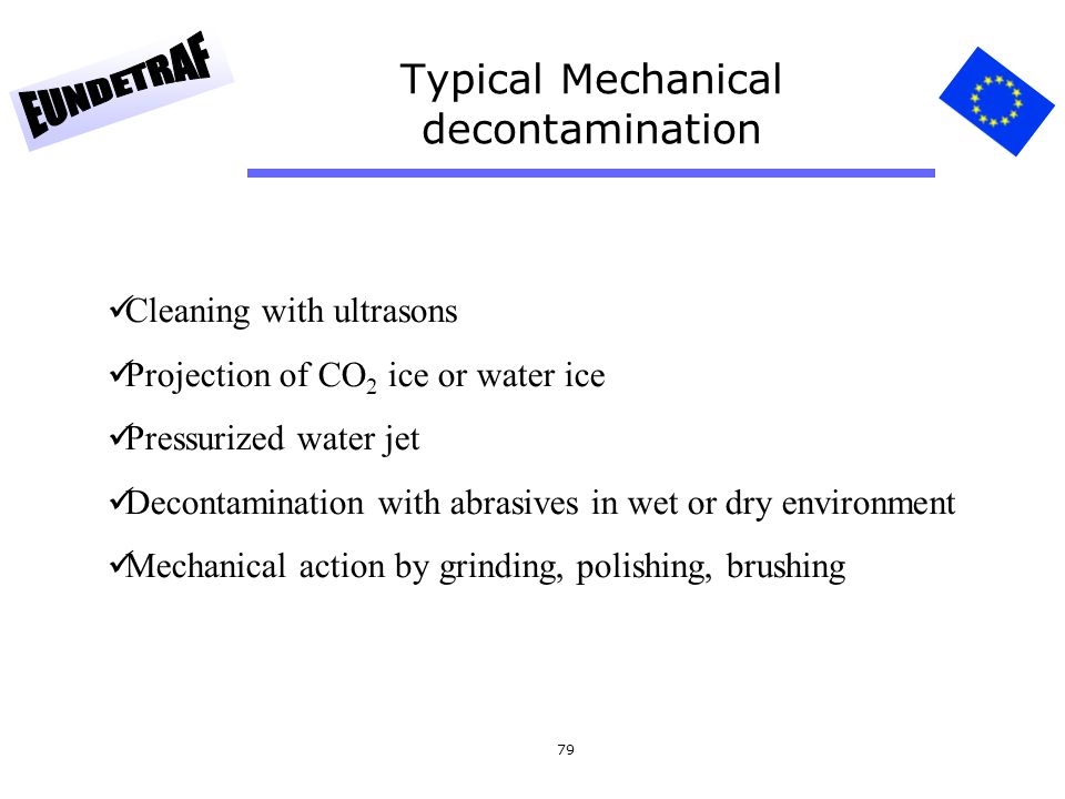 Typical Mechanical decontamination