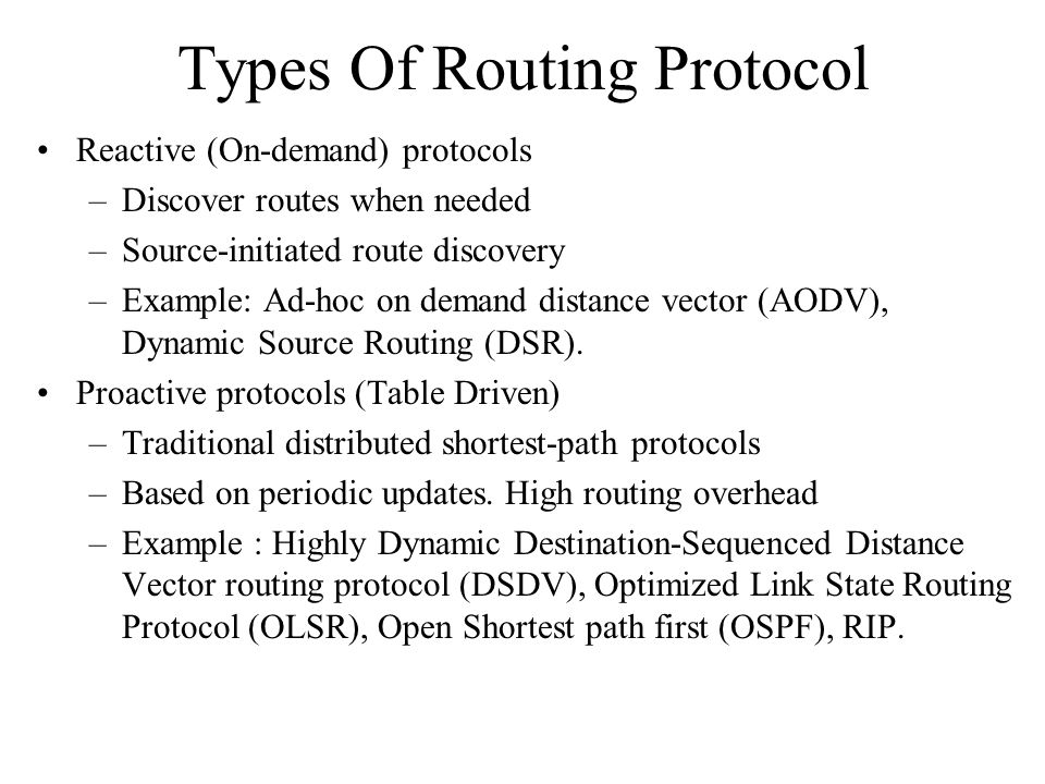 Types Of Routing Protocol