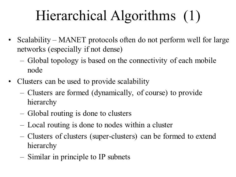 Hierarchical Algorithms (1)