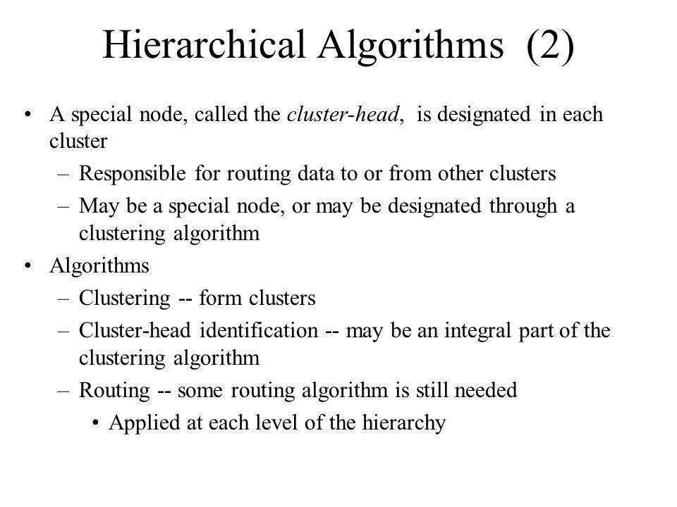 Hierarchical Algorithms (2)