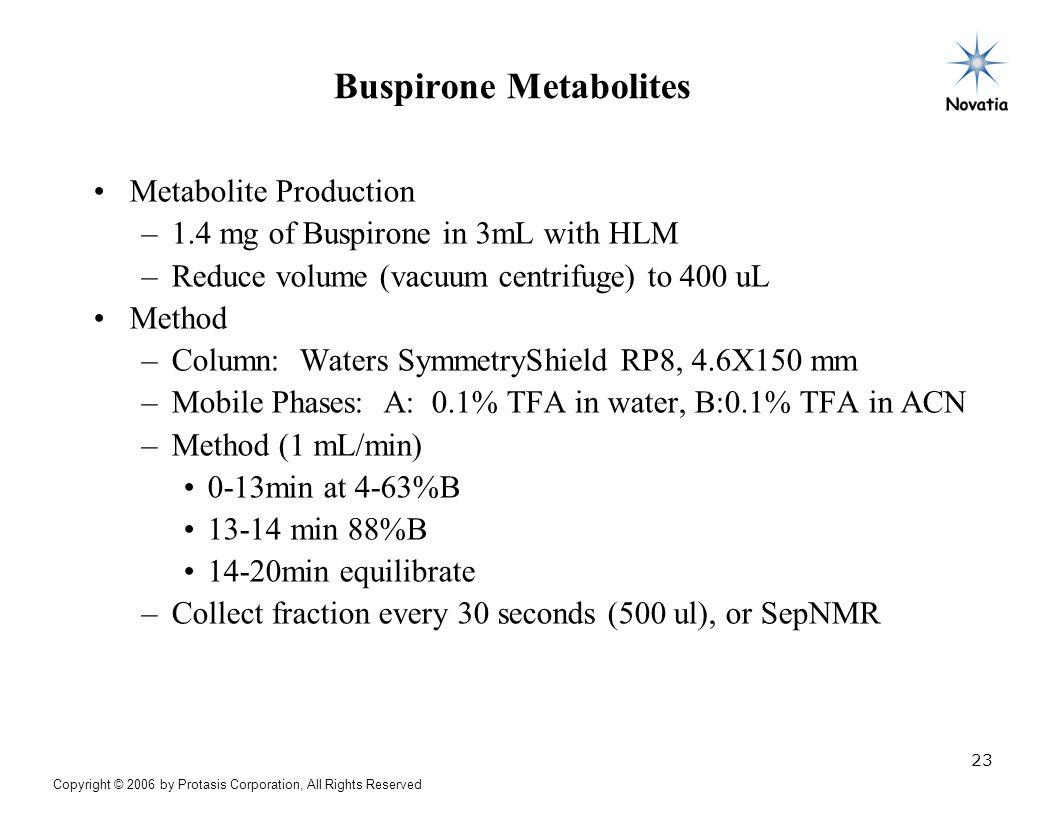 Buspirone Metabolites