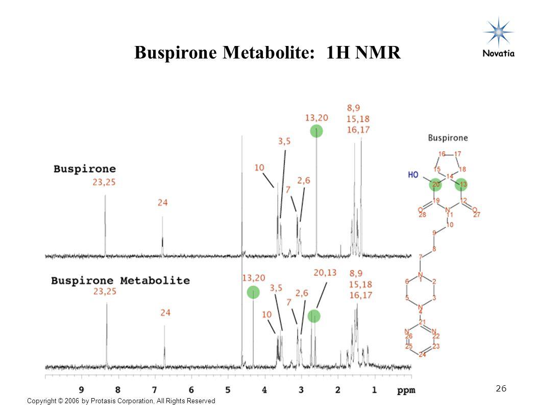 Buspirone Metabolite: 1H NMR