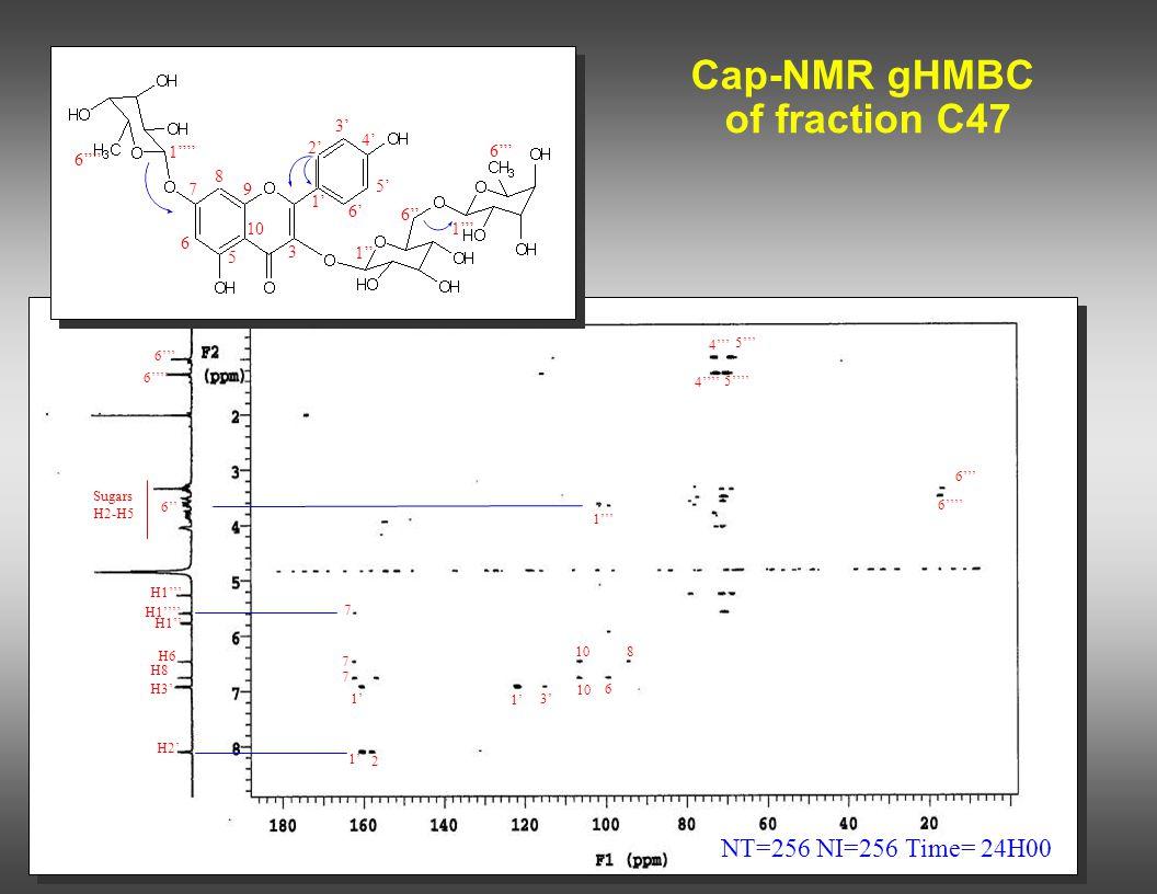 Cap-NMR gHMBC of fraction C47