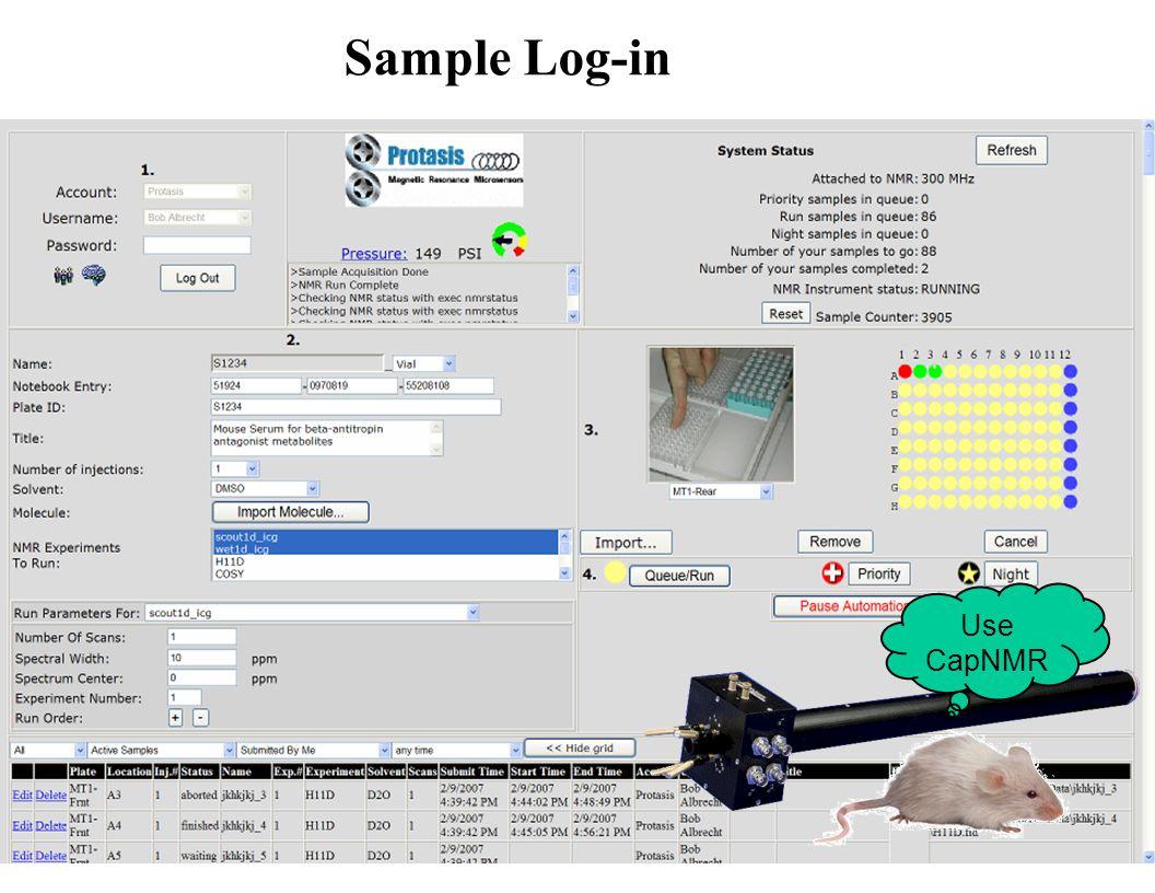 Sample Log-in Use CapNMR