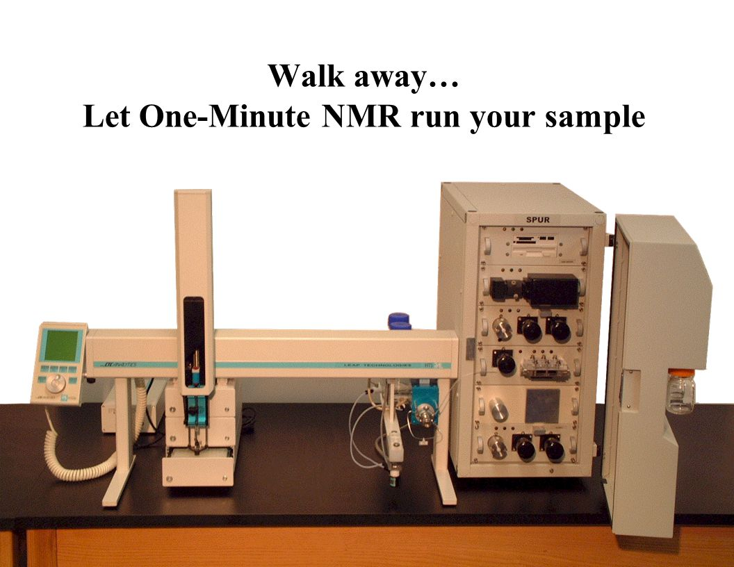 Walk away… Let One-Minute NMR run your sample
