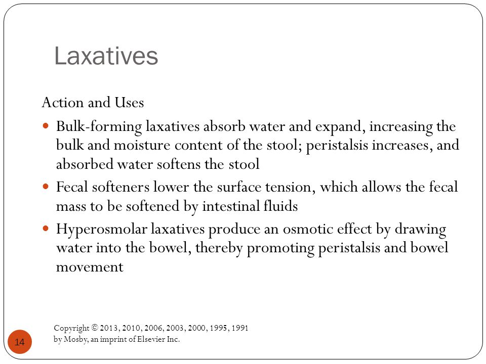 Laxatives Action and Uses