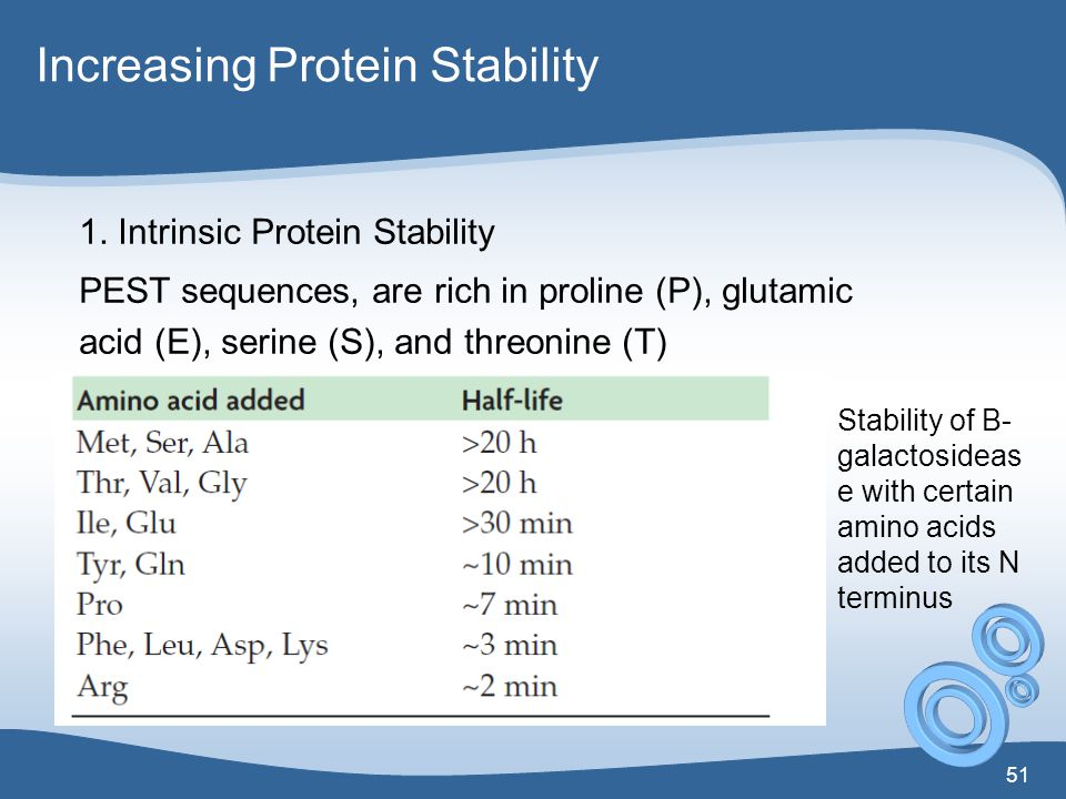 Increasing Protein Stability
