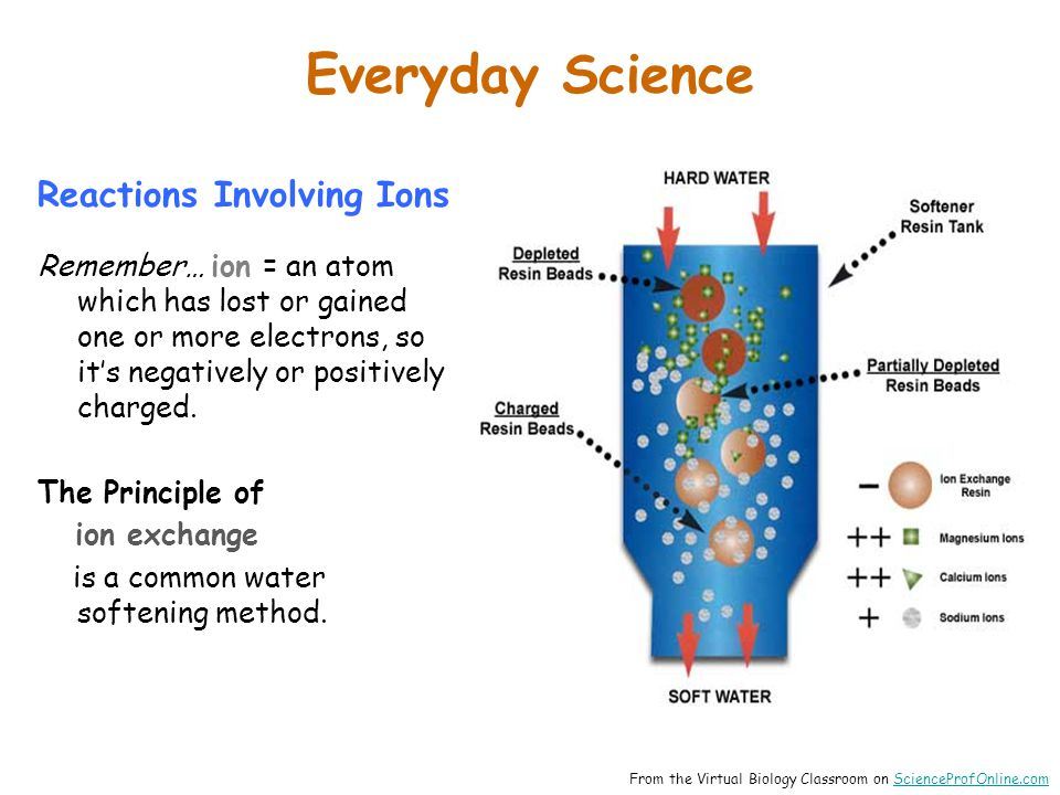 Everyday Science Reactions Involving Ions