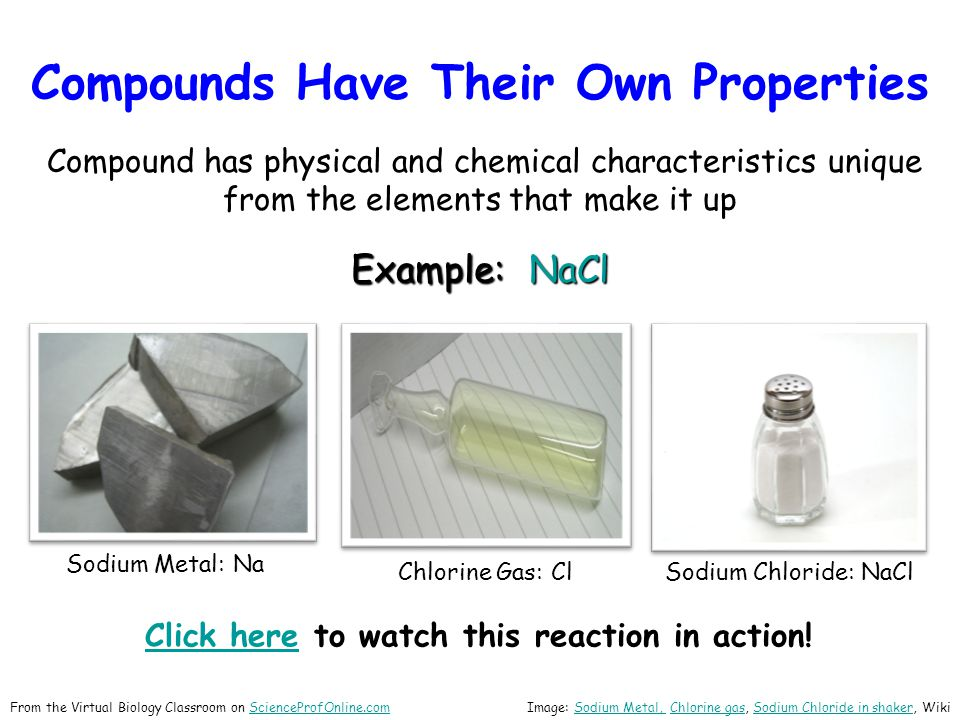Compounds Have Their Own Properties