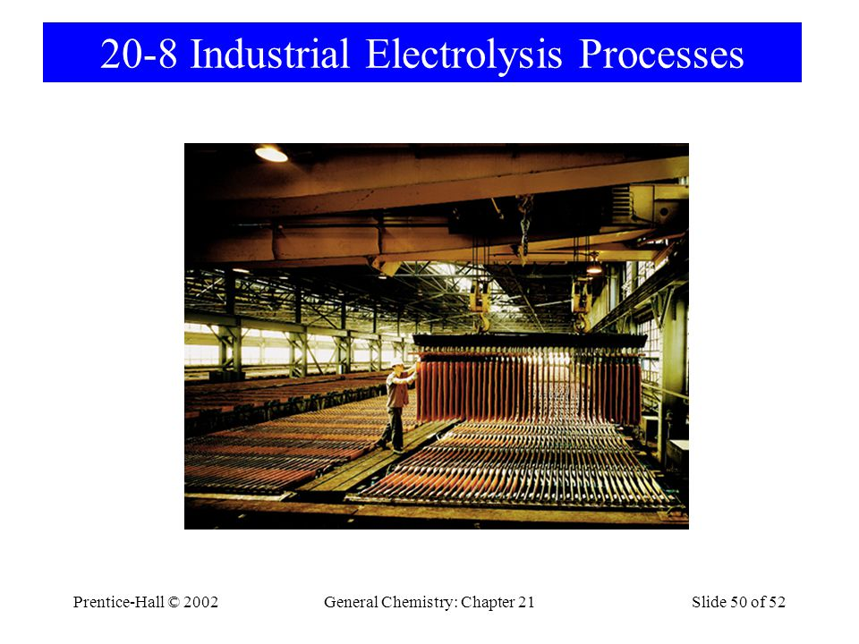 20-8 Industrial Electrolysis Processes