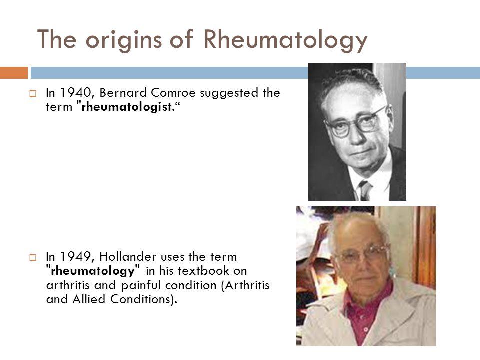 The origins of Rheumatology