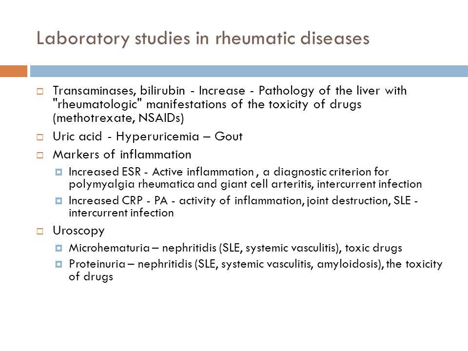 Laboratory studies in rheumatic diseases