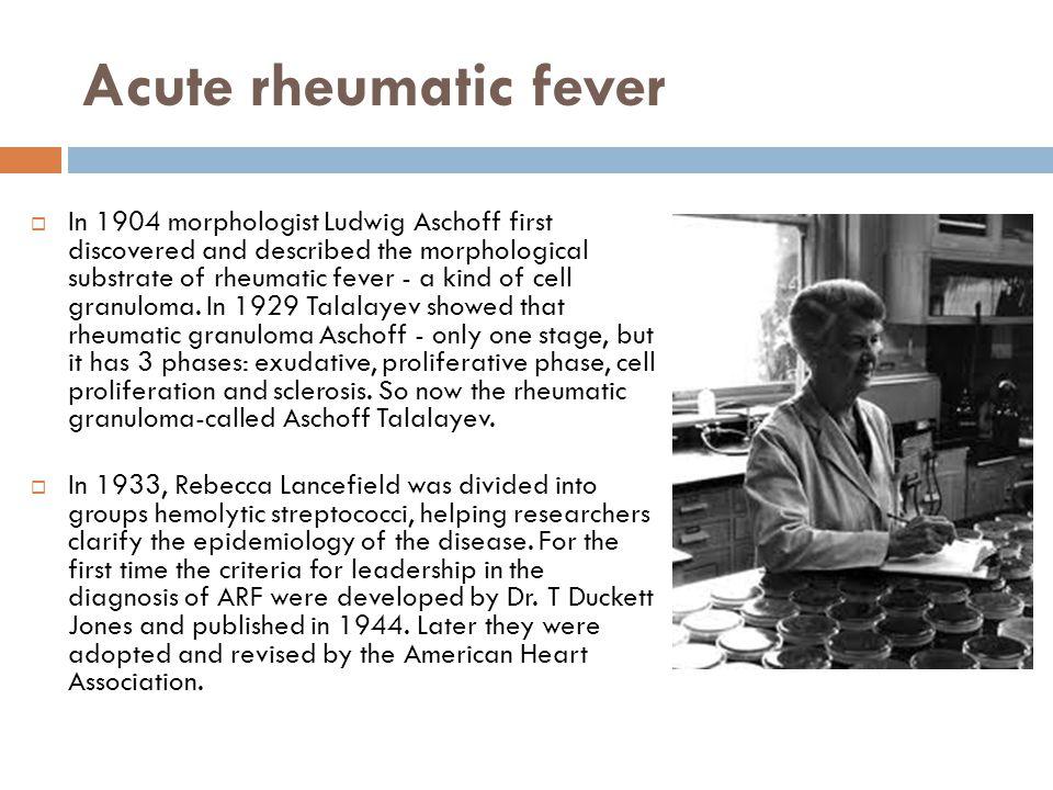 Acute rheumatic fever
