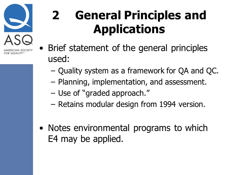 2 General Principles and Applications