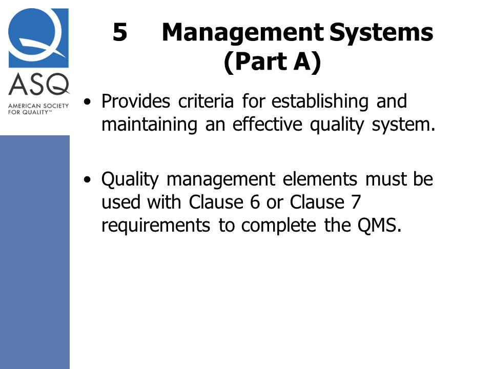 5 Management Systems (Part A)
