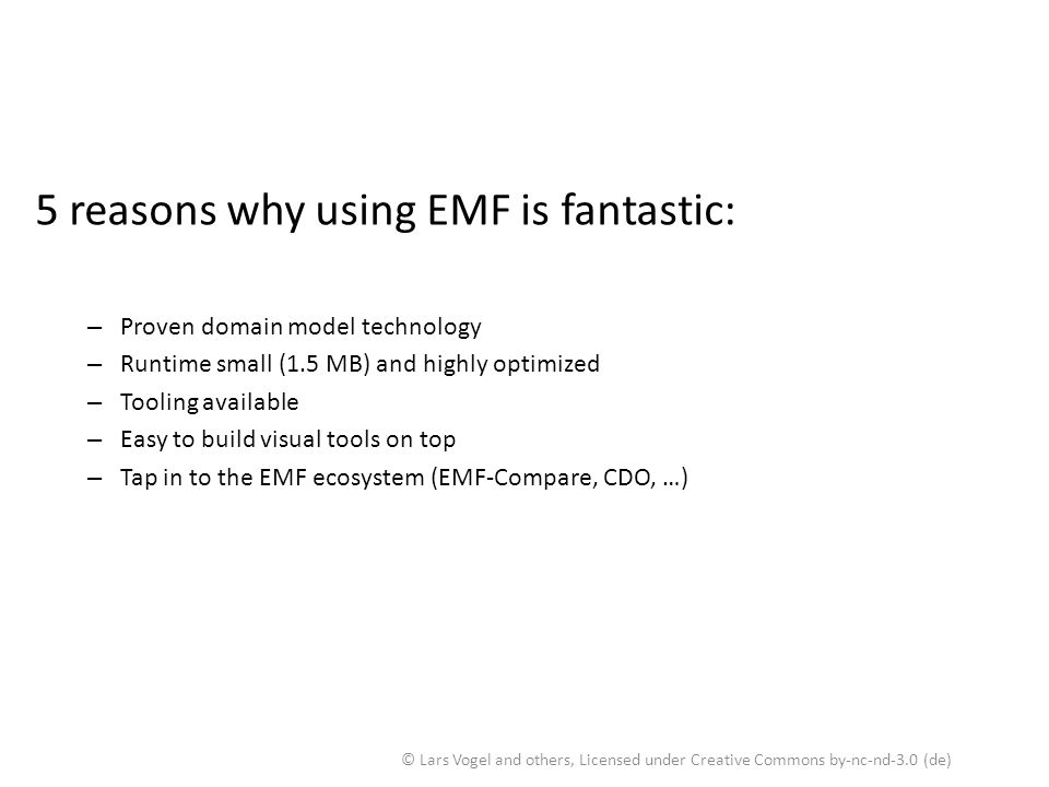 5 reasons why using EMF is fantastic: