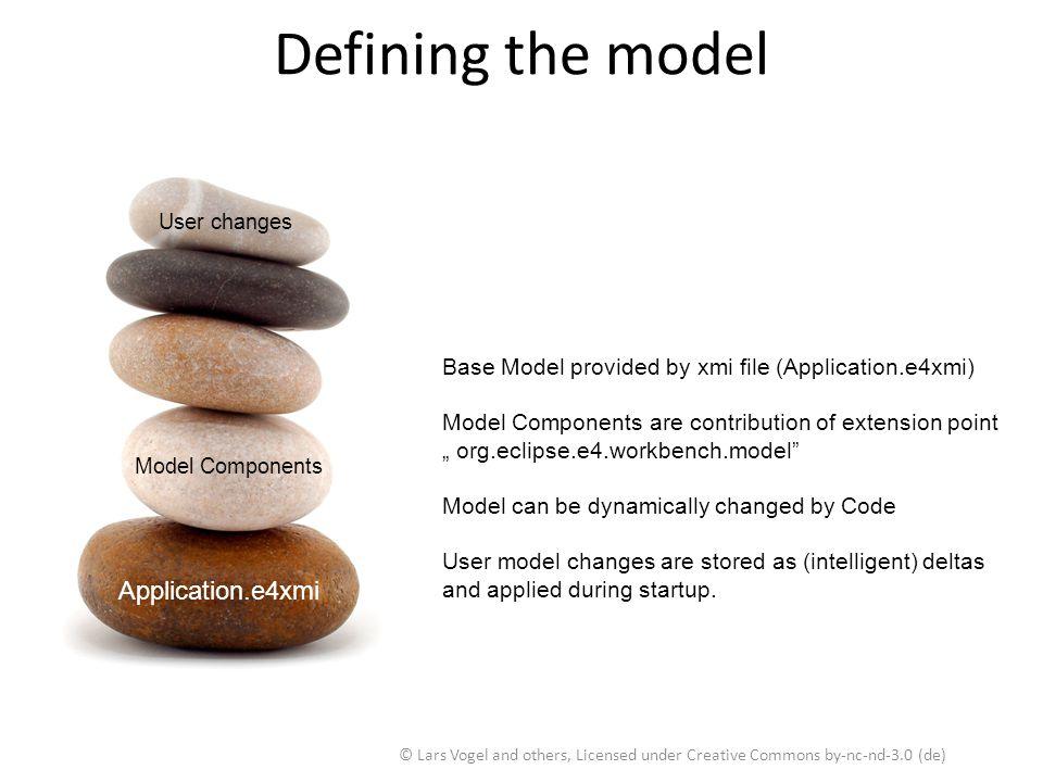 Defining the model Application.e4xmi Application.e4xmi
