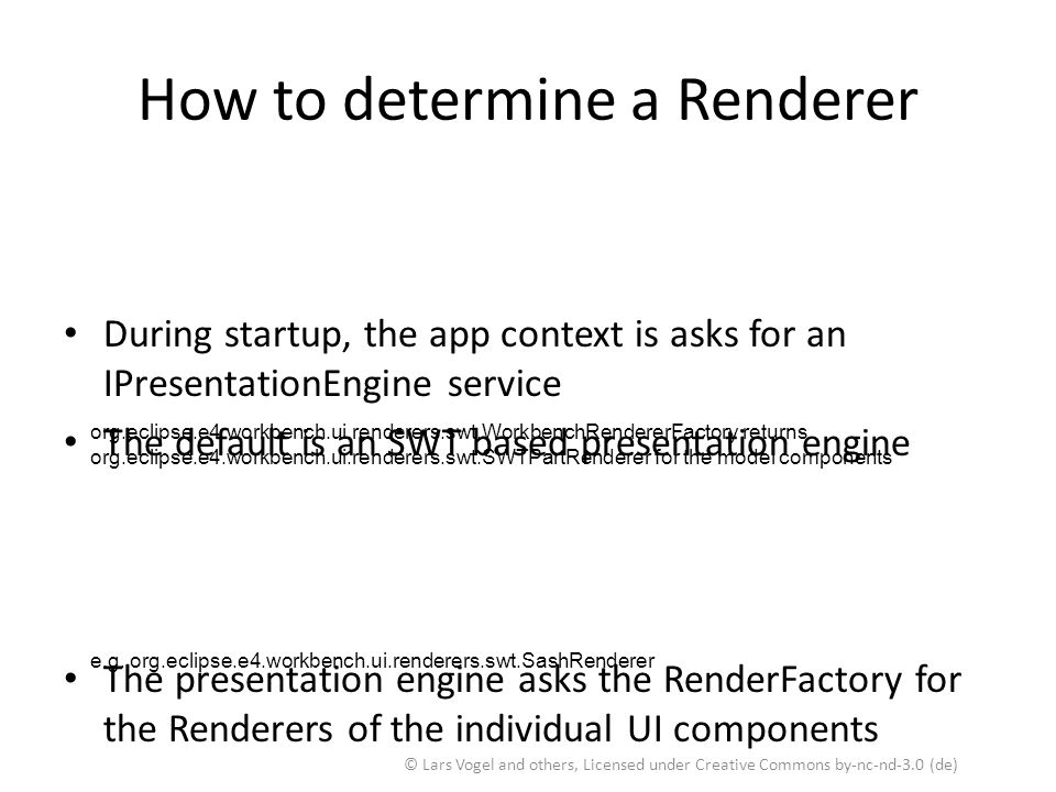How to determine a Renderer