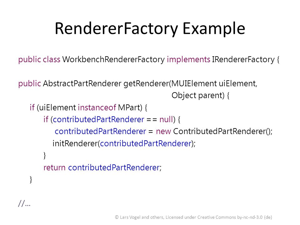 RendererFactory Example