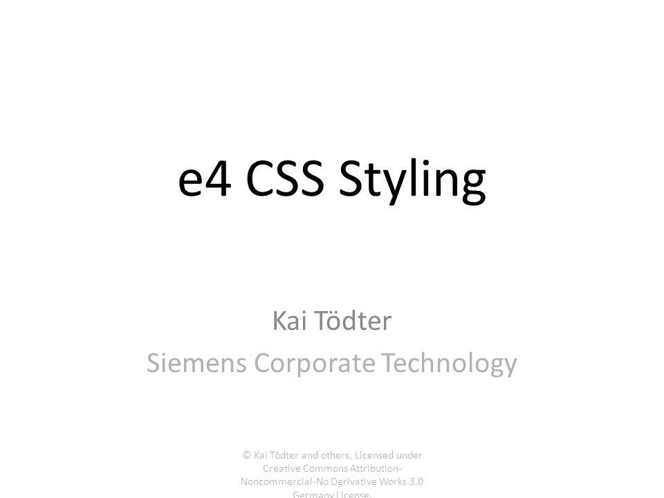 Kai Tödter Siemens Corporate Technology