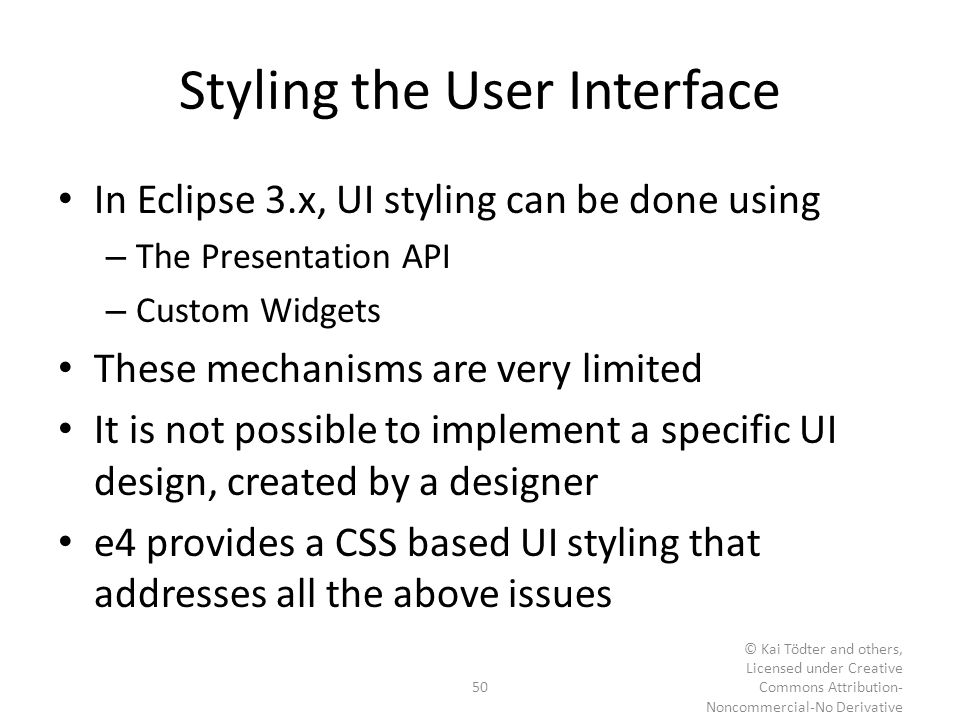 Styling the User Interface