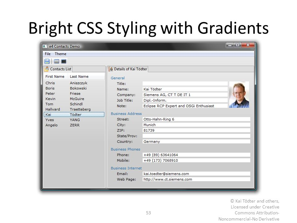 Bright CSS Styling with Gradients
