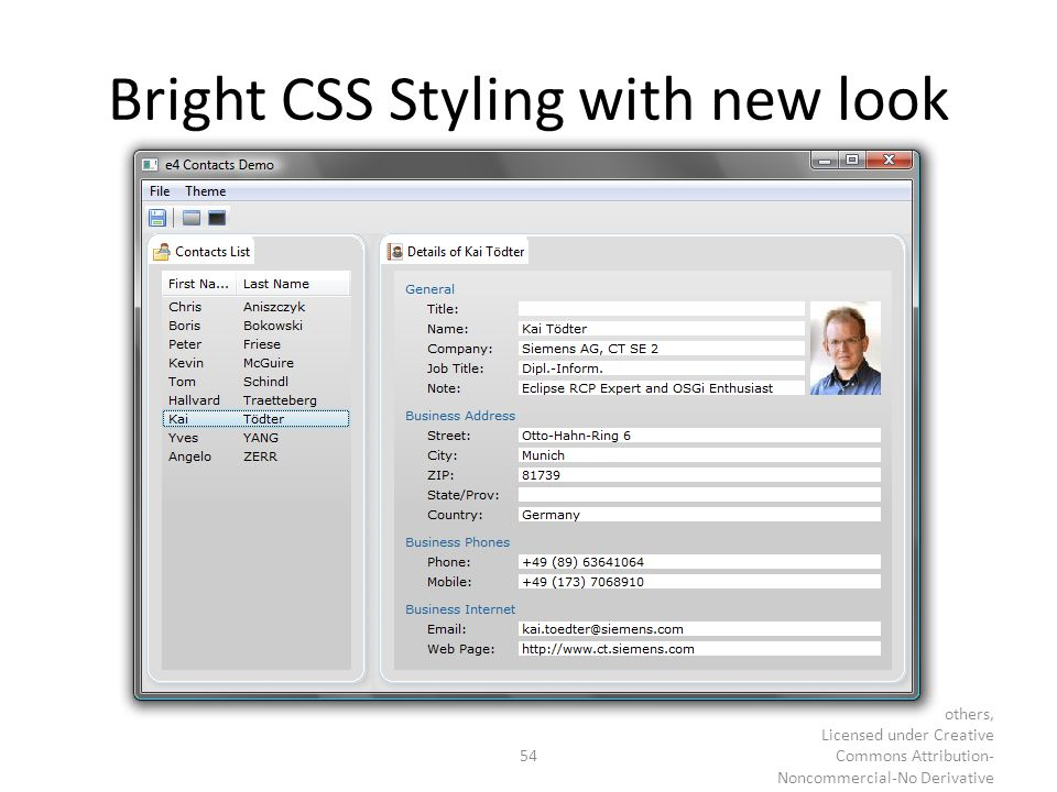 Bright CSS Styling with new look