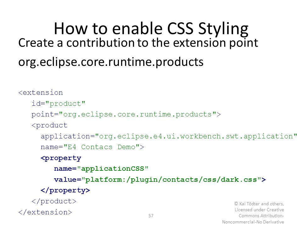 How to enable CSS Styling
