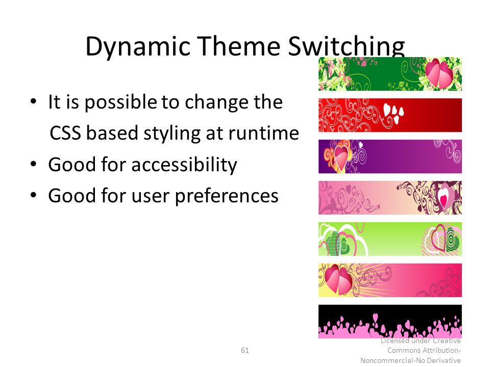 Dynamic Theme Switching