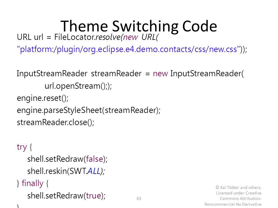 Theme Switching Code