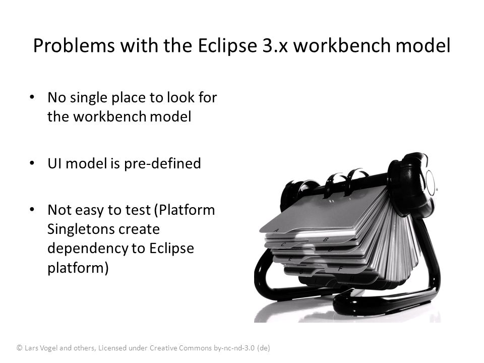 Problems with the Eclipse 3.x workbench model
