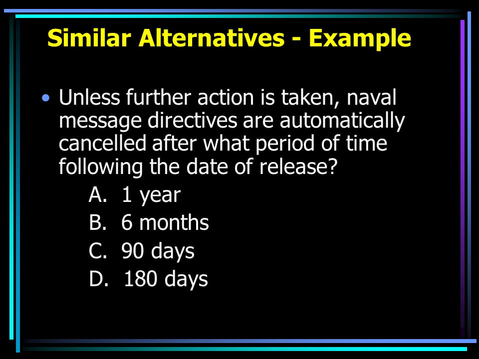 Similar Alternatives - Example