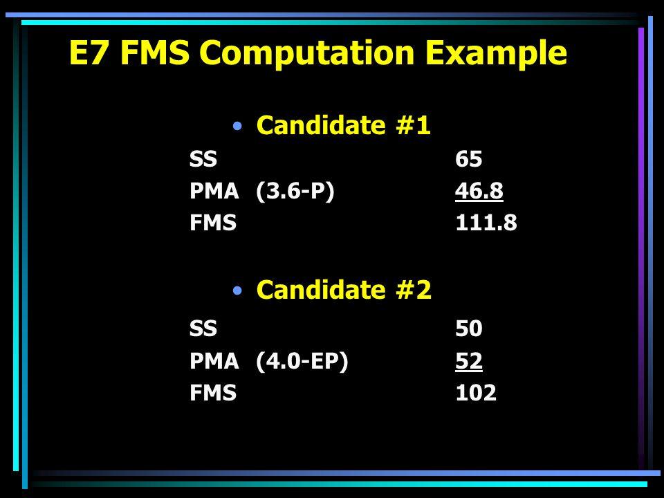 E7 FMS Computation Example