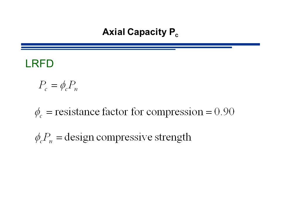 Axial Capacity Pc LRFD